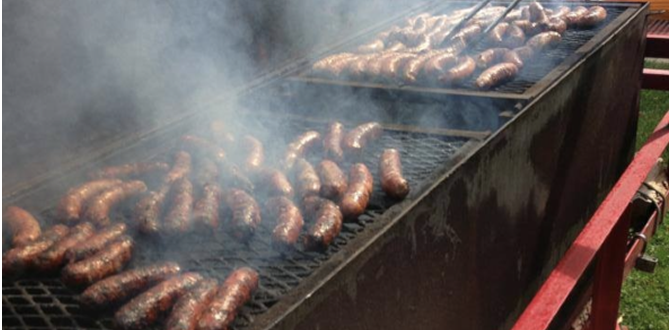 mr bbq911 catering grilled sausages